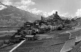 Le Bourg de Saillon en 1930